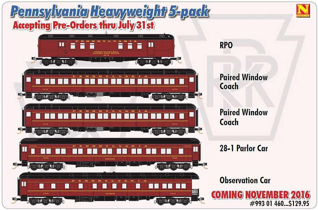 N Scale MICRO-TRAINS 160 00 360 PENNSYLVANIA Heavyweight Single-Window Coach Car
